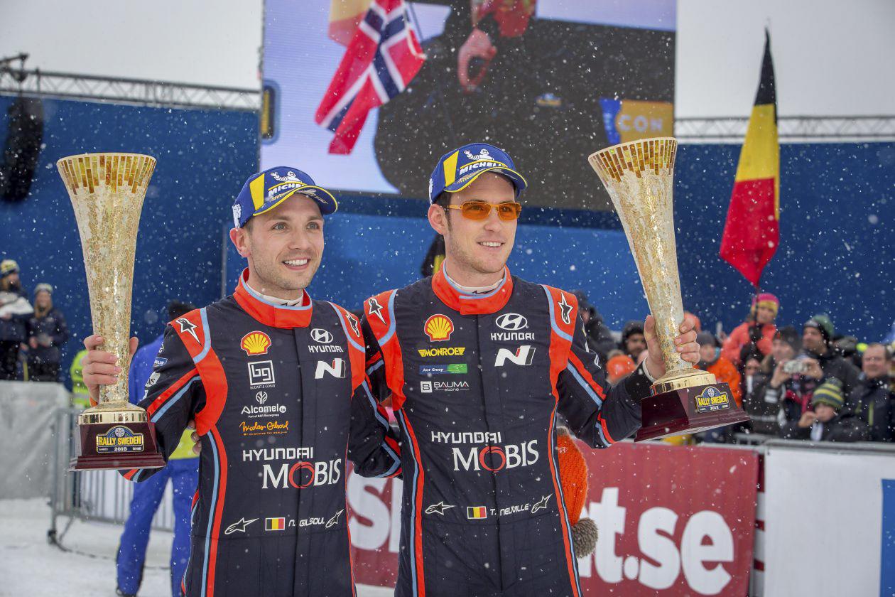 Nicolas Gilsoul na de Rally van Zweden