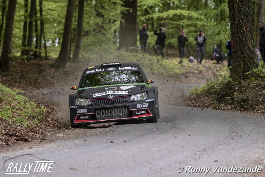 Vincent Verschueren wint voor het eerst de Rally van Wallonië