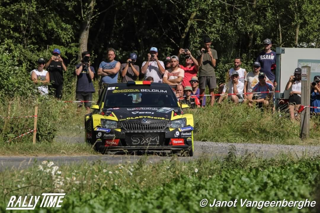 Sébastien Bedoret met Skoda Fabia R5 EVO in Rally van Staden