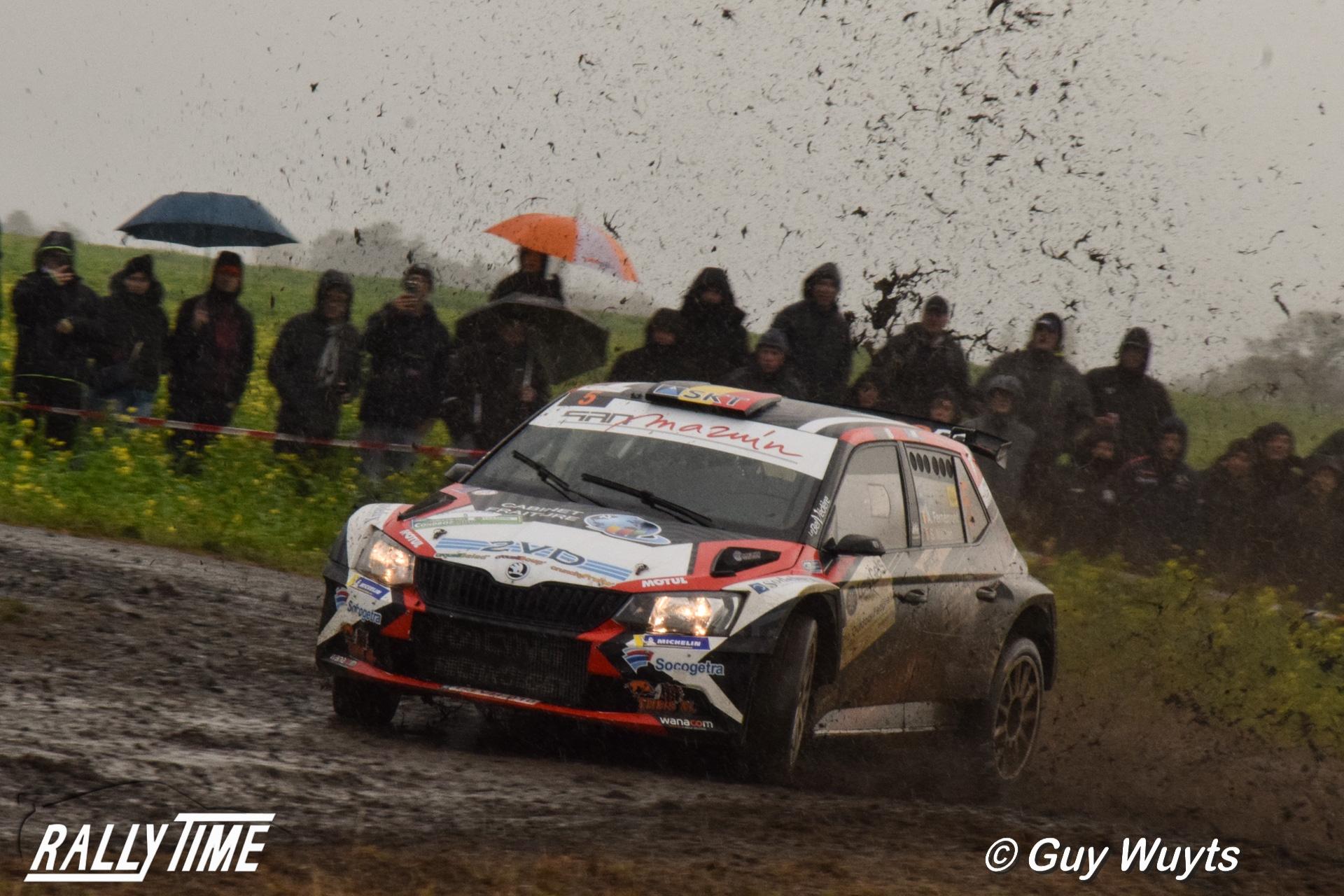 Stéphane Lefebvre wint Condroz Rally, Adrian Fernémont kampioen